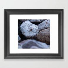 cold stones Framed Art Print