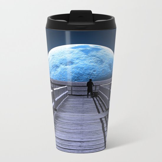 Once in a blue moon Metal Travel Mug
