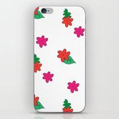 little pink flowers iPhone & iPod Skin