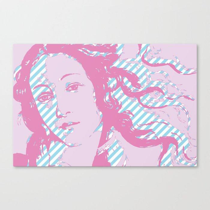 Rebirth of Venus - Pink & Cyan - Trans Pride! Canvas Print