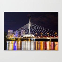 Winnipeg Provencher Bridge 2015 Canvas Print