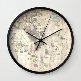 Seattle 1890 Wall Clock