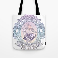 Bird and Stone Vintage framed Tote Bag