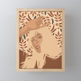 Autumn Pattern Framed Mini Art Print