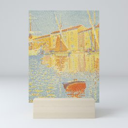 "Paul Signac ""The Buoy (Saint-Tropez, the Harbour) (La bouée (Saint-Tropez, le port))"" Mini Art Print"