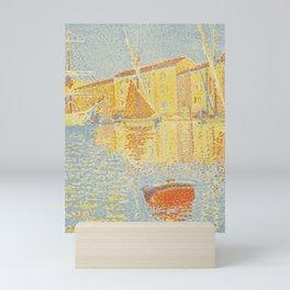 """Paul Signac """"The Buoy (Saint-Tropez, the Harbour) (La bouée (Saint-Tropez, le port))"""" Mini Art Print"""