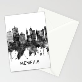Memphis Tennessee Skyline BW Stationery Cards