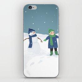 Snowman Twins iPhone Skin