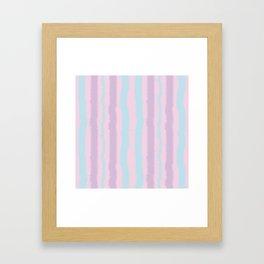 Pink Purple and Blue Jiggly Pastel Line Pattern Framed Art Print