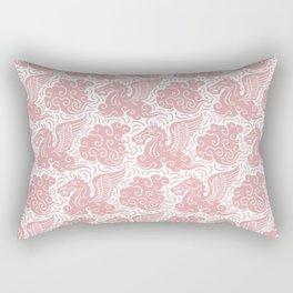 Pegasus Pattern Dusty Rose Rectangular Pillow