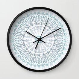 Teal Aqua Mandala Wall Clock