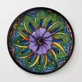 Floral Mandala Wall Clock
