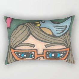 Girl Reading Rectangular Pillow