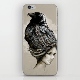 Raven Haired iPhone Skin