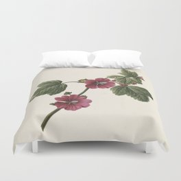 M. de Gijselaar - Twig with purple flowers (1830) Duvet Cover