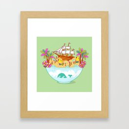 Ocean Adventure Ramen Framed Art Print