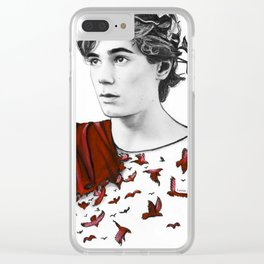 "SKAM ""bird set free"" Clear iPhone Case"