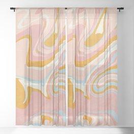 vintage marble Sheer Curtain