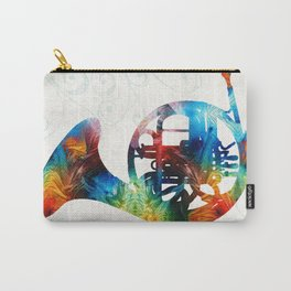 Colorful French Horn - Color Fusion By Sharon Cummings Carry-All Pouch