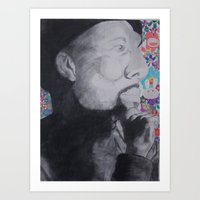 murakami Art Prints featuring Common Murakami by Jeremy Tolbert (A.M.P. Artwork)