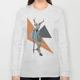 Low Poly Deer Long Sleeve T-shirt