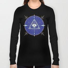 Evil Eye Mandala – Navy Long Sleeve T-shirt