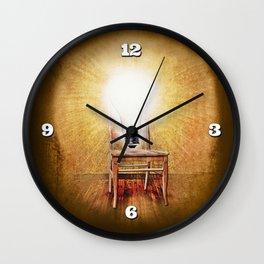 The Seat of Big Ideas Wall Clock
