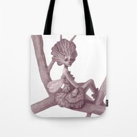 fairy Tote Bags featuring Fairy by Sara Meseguer