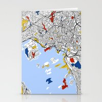 oslo Stationery Cards featuring Oslo mondrian by Mondrian Maps