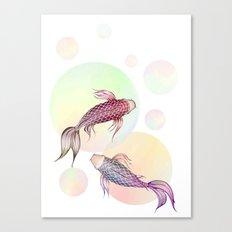 Two Koi Canvas Print