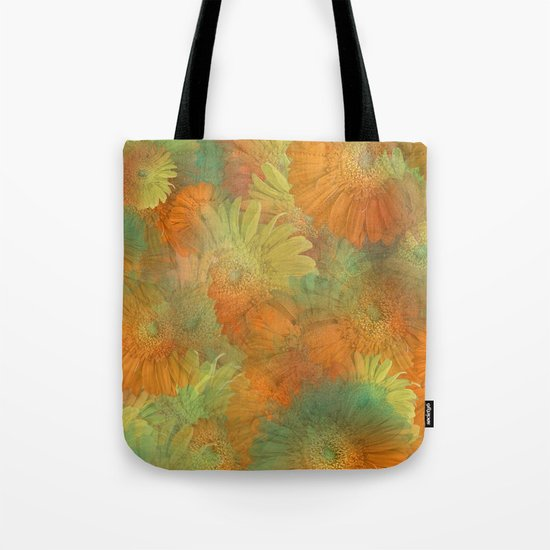 Floral Orange-Yellow-Green Tote Bag