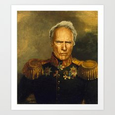 Clint Eastwood - replaceface Art Print