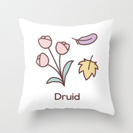 Cute Dungeons and Dragons Druid class Throw Pillow
