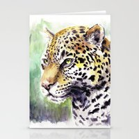 jaguar Stationery Cards featuring Jaguar by Juan Pablo Cortes