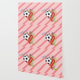 Soccer Ball with Brush Strokes Wallpaper