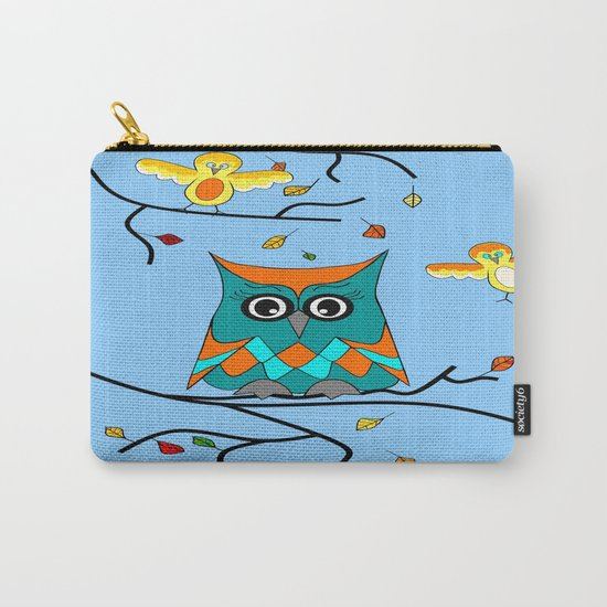Owl And Birds Carry-All Pouch