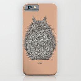Peach Totoro iPhone Case