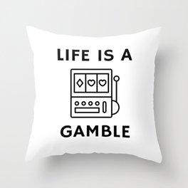 Slot Machine Gamble Throw Pillow