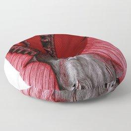Goat blood sun Floor Pillow