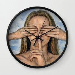Silence in the Dark  Wall Clock