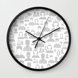 Medical background Wall Clock