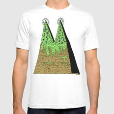 Double Pyramid Mens Fitted Tee LARGE White