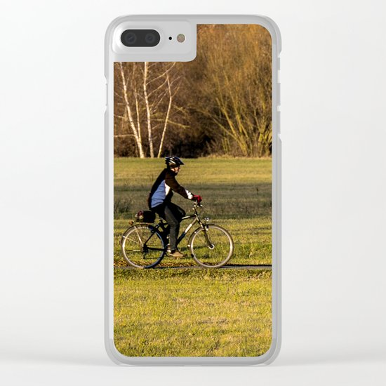 park-bench Clear iPhone Case