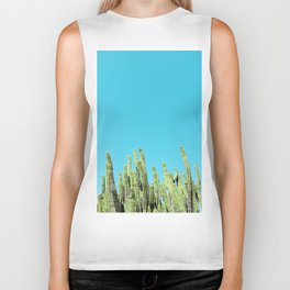 Desert Cactus Reaching for the Blue Sky Biker Tank