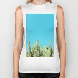 Desert Cactus Reaching for the Blue Sky Biker Tank