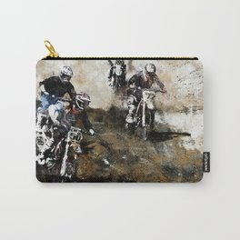 """Dare to Race"" Motocross Dirt-Bike Racers Carry-All Pouch"