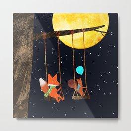 Swing under the Moon Metal Print