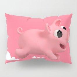 Rosa the Pig running Pillow Sham