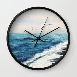 Watercolor Coast Wall Clock