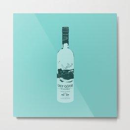 Grey Goose Blue Pop Art Metal Print